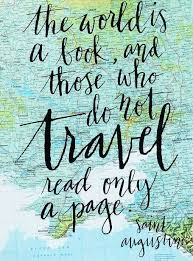 Travel Quote Screen Print on Vintage Atlas Page Saint Augustine