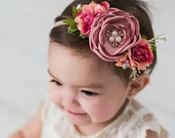 baby girl headbands and bows baby girl headband etsy