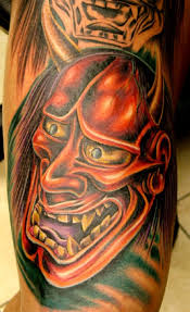 hannya mask on chest for photo 6 2017 photo