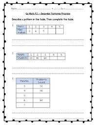 go math practice 3rd grade 5 1 describe patterns worksheet