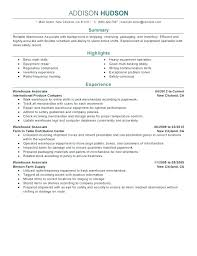 warehouse resume skills summary customer warehouse associate resume warehouse resume skills summary