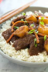 slow cooker mongolian beef with pineapple