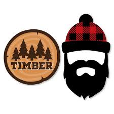 cut outs lumberjack channel the flannel shaped buffalo plaid party cut