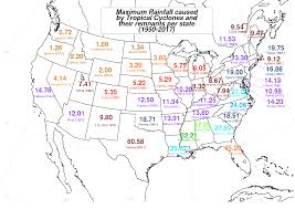 Rainfall Totals Map List Of Wettest Tropical Cyclones In The United States Wikipedia
