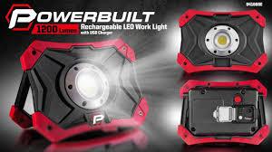 3000 lumen led work light powerbuilt 941668e 1200 lumen led worklight youtube