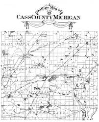 Michigan Map With Counties by Cass County Michigan Map Michigan Map