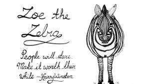 happy monday digital drawing no 33 zoe the zebra u2013 the crazy bag