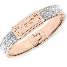 rose gold crystal bangle bracelet images Michael kors bracelet rose gold tone plaque and crystal cuf out=j