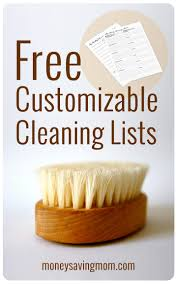 House Cleaning List Template Household Management Forms Mom Charts And Chore Charts