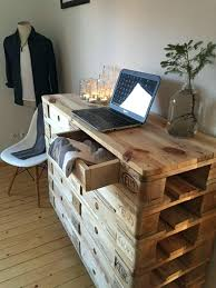 bureau en palette bureau palette rcupration excellent with table a manger en maison