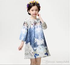 2017 elegant girls dress 2016 autumn winter new big 3d