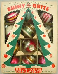 the story vintage shiny brite ornaments
