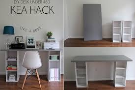 Diy Sawhorse Desk by Furniture U0026 Accessories Cream Wood Diy Standing Desks With