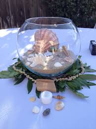party centerpieces creative idea cool seashell table centerpiece in clear glass