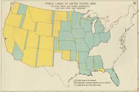 Atlas Map Of The United States by Public Lands Of The United States 1890 Norman B Leventhal Map