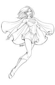 supergirl lineart 2013 by dstpierre on deviantart coloring pages