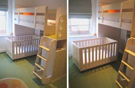 Loft Bed With Crib Underneath A Crib A Bunk Bed