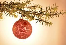 gold and peach christmas tree ornament murano glass murano