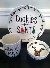 santa cookie plate milk mug and reindeer snacks sooooo