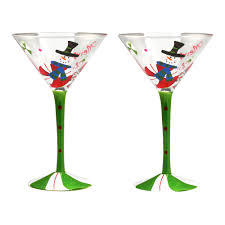martini christmas hand painted martini glass living room ideas