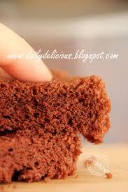 dailydelicious basic chocolate chiffon cake