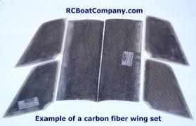 rc boat company carbon fiber wing sets