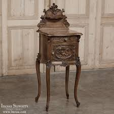 Antique Marble Top Nightstand 19th Century Rococo Walnut Marble Top Nightstand Inessa
