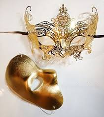 masquerade masks for couples gossip girl masquerade set luxury gold
