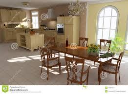 sala pranzo classica sala da pranzo e cucina classiche illustrazione di stock