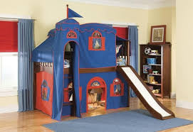 Castle Bunk Bed With Slide Bedroom Bunk Beds For Kids And How To Keep Them Safe Detachable
