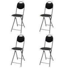 chaise de pliante chaise pliante ronde lot de 4 achat vente chaise noir