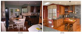 7 jaw dropping kitchen remodel ideas before and after renovation e full size of kitchen before and after remodels maroon painted wall oak l shape renovation ideas