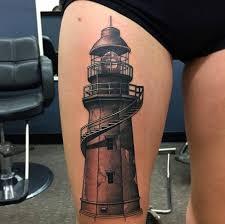 Lighthouse Tattoo Ideas Anchor And Lighthouse Tattoo By Xxhellhoundxx