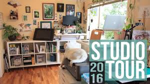 Art Studio Desk by Art Studio Workspace Tour 2016 Youtube