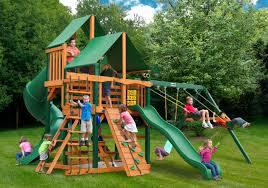 backyard wooden swing sets online discount