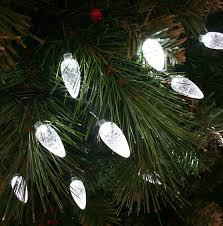 White Christmas Tree Lights 100x Multicoloured Led Faceted Cone Indoor Outdoor Christmas