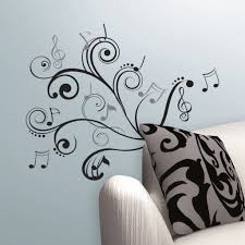 inspirational bedroom quotes music note stencils on wall home