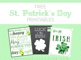 free st patrick u0027s day printables the organized dream