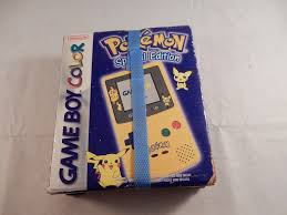 nintendo game boy color pokémon edition yellow handheld system ebay