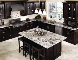 dark countertops with dark cabinets luxury white spring granite countertop with black italian cabinet