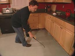 flooring cement kitchen floor dark stained concrete floors ideas