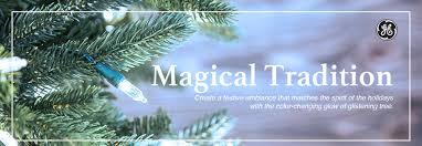 shop ge 9 ft pre lit aspen fir slim artificial tree with