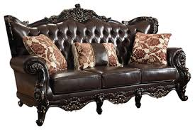 Living Room Brown Leather Sofa Barcelona Brown Leather Sofa Traditional Sofas By Meridian