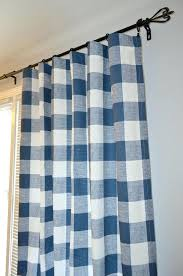 Blue Buffalo Check Curtains Large Buffalo Check Curtains Cjphotography Me