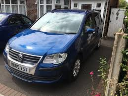 vw touran 1 9 tdi 1 previous owner fsh manual 7 seater in hall