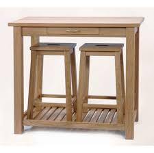 kitchen bar table and stools solid oak bar table and 2 stowaway stools