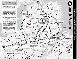 boston tourist map tourist map of boston massachusetts showing walking routes and