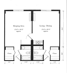 apartment relieved sleeping and living area in apartment plans