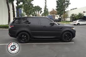 range rover truck black range rover sport wrapped in 3m deep matte black wrap bullys