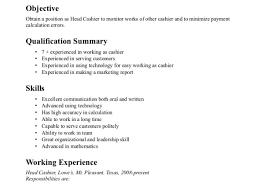 Resume Sles For Cashier Resume Cashier Resume Exles Sles Wonderful Cashiers Resume